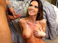 Jennifer Dark takes healthy facial cumshot