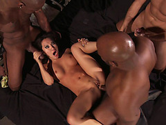 Asian whore Asa Akira gets her every hole pounded in a hot orgy