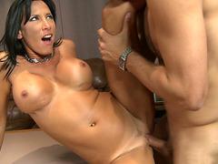 Busty mommy Lezley Zen gets her pussy slammed by a hot stud