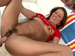 Hot mom Inari Vachs gets her hairy pussy slammed by a big cock