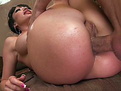Dirty asian whore Maya Hills enjoys his big cock getting shoved deep in her butt