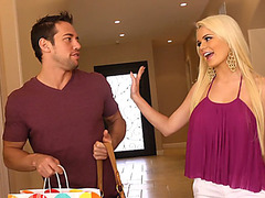 Alexis Ford arrives home from shopping and asks Johnny to see her new outfits