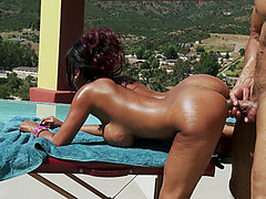 Priya Rai bent over the table getting some dick from behind