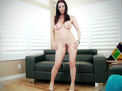 Pale natural beauty RayVeness shows her trimmed pussy and tits