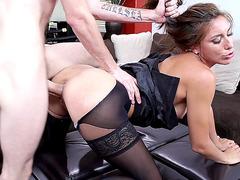 Office slut Rilynn Rae caught jerking off and gets fucked