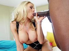 Big tits MILF Katie Morgan loves her meat black and hard