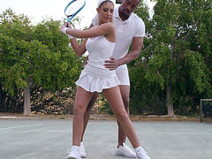 Canadian porn star August Ames gets seduced by her tennis teacher