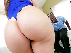 Juicy Latina Alexis Rodriguez groped a horny black lover