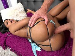 Brunette amateur Katalina Mills can handle big porn star dick