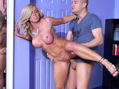 Slutty blonde mom Parker Swayze steals a teen boyfriend