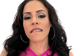 Big tits Cuban mom Luna Star teases and strips in lingerie