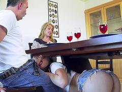 Little slut Aidra Fox seduces Keiran Lee in front of his wife