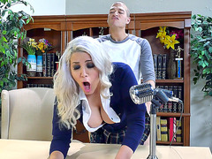 Schoolgirl Alix Lovell fucked in dean's office during announcement