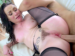 Hot trimmed  wife Veruca James anal fucking and pussy fingering