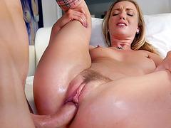 Teen blonde in stockings Karla Kush enjoys sloppy pussy fucking