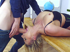 Hot Czech mom Brittany Bardot face fucked by Danny D
