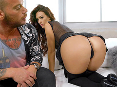 Big ass mom Victoria Banxxx teases in a thong and lingerie