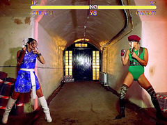 Mortal Kombat with Christen Courtney and Rina Ellis turns into kissing
