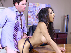 Big tits boss Priya Price getting drilled doggy style on desk