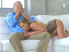 Sydney Cole caught sucking dick by brunette babe Cassandra Cain