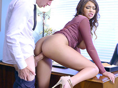 Black and busty boss Cassidy Banks getting fucked by Danny D