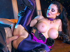 Aletta Ocean shows off her big tits and fine ass
