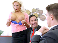 Olivia Fox is performing hot things in a sensual threesome