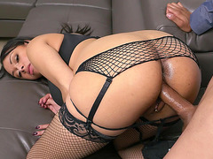 Bethany Benz is getting rammed in her wet pussy by a big cock
