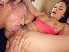 Violet Starr gets her hot pussy licked by a dude