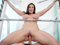 Kendra Lust is riding a big cock on the equipment