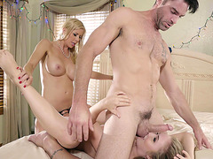 Alexis Fawx and Lena Paul have a hot threesome