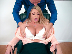 Brooklyn Chase loves feeling her tits sucked in her blouse