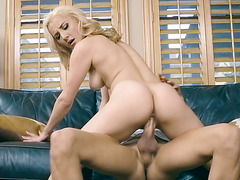 Jade Amber rides a big hard pecker like a pro