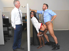 Aubrey Rose is taking in a cock in the office