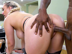 Nina Kayy is with a black dude, taking in his hard dick