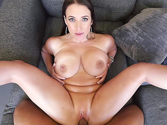 Angela White is spread wide open and she is fucked