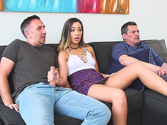 Jaye Summers gets her face fucked by a hard cock