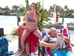 Harley Jade gets fucked and her grandpa is none the wiser