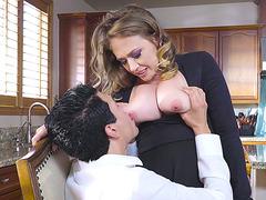 Dude licks nice Kagney Linn Karter's big boons