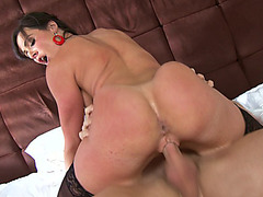 Kendra Lust riding extra large dick as her ass cheeks bouncing all over the place