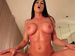 Tight bodied MILF Kendra Lust rides his cock as her big tits bouncing