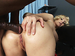Anal MILF Julia Ann takes big black pole deep in her rectum