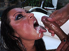 Nikita Denise gets her ass rammed and receives nice facial