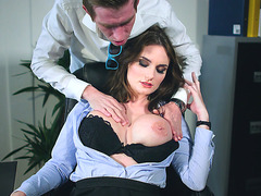 Danny D plays with big Marie Clarence's boobs in the office