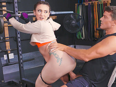 Tattooed Mandy Muse rides the stiff cock reverse cowgirl