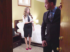 Lena Paul takes off her clothes and seduces the lucky guy