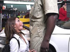 Jade Jantzen sucks BBC behind her mother's back