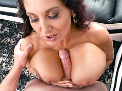 British mom Ava Addams gets her mouth and big boobs fucked