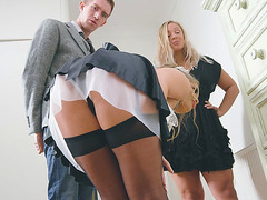 Alessandra Jane and Danny D play with each other
