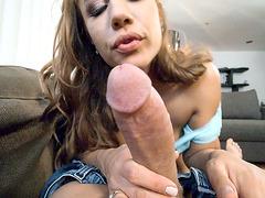 Big titted Vivian Azure gives nice blowjob